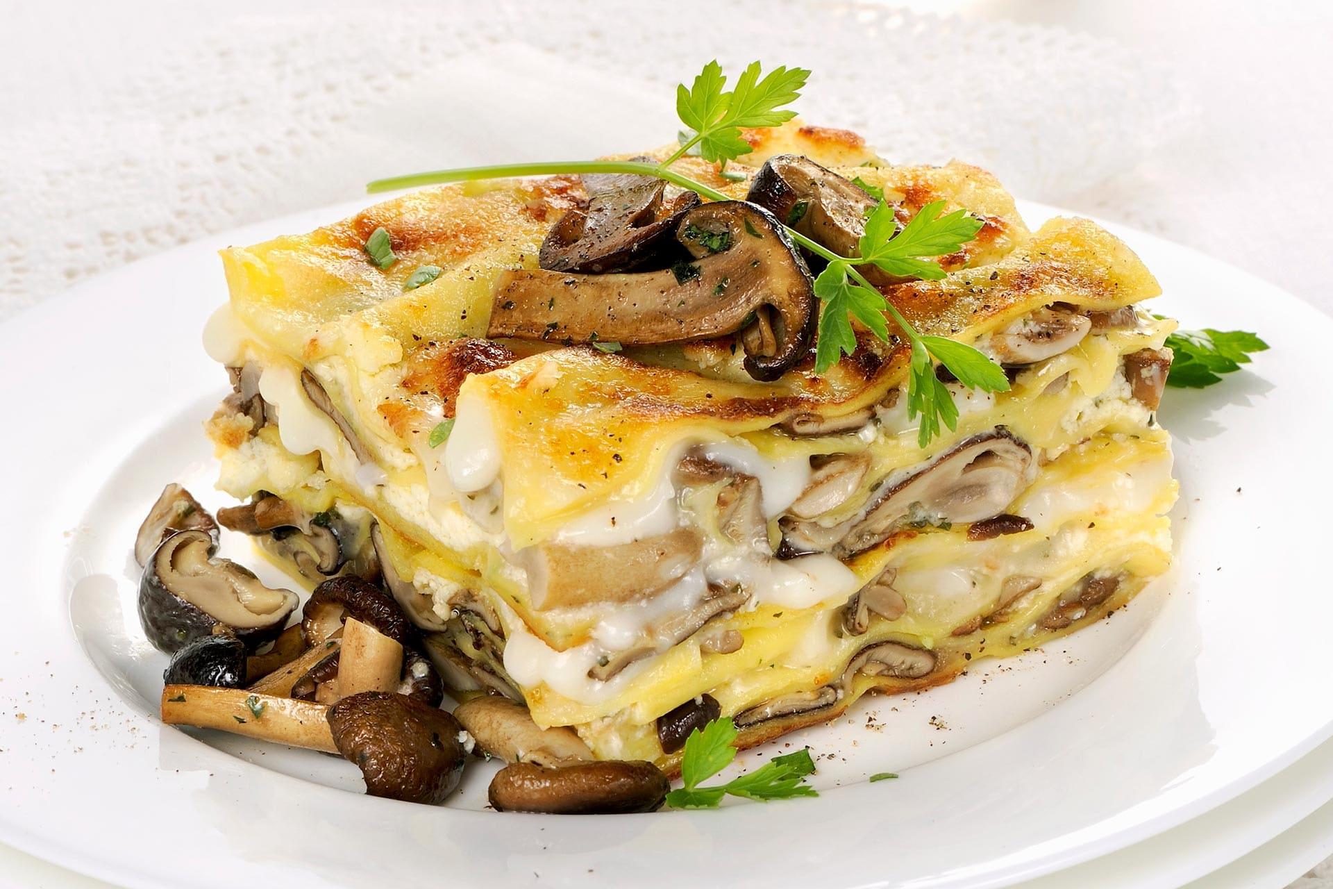 Ricetta Lasagne Ai Funghi.Lasagne Bianche Ai Funghi Pioppini
