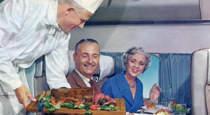 cibo aerei anni 60