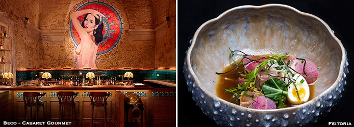 Beco Cabaret-Gourmet and Feitoria restaurants in Lisbon