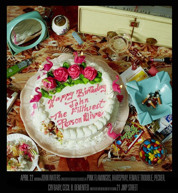 John Waters birthay cake