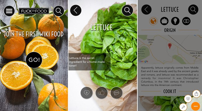 app di cucina flick on food
