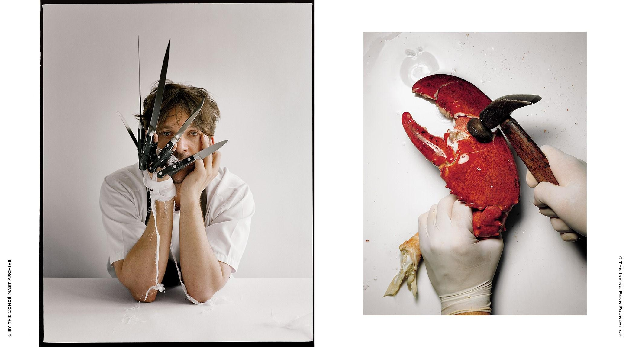 Tim Walker, René Redzepi | Irving Penn, Cracking a Lobster Claw