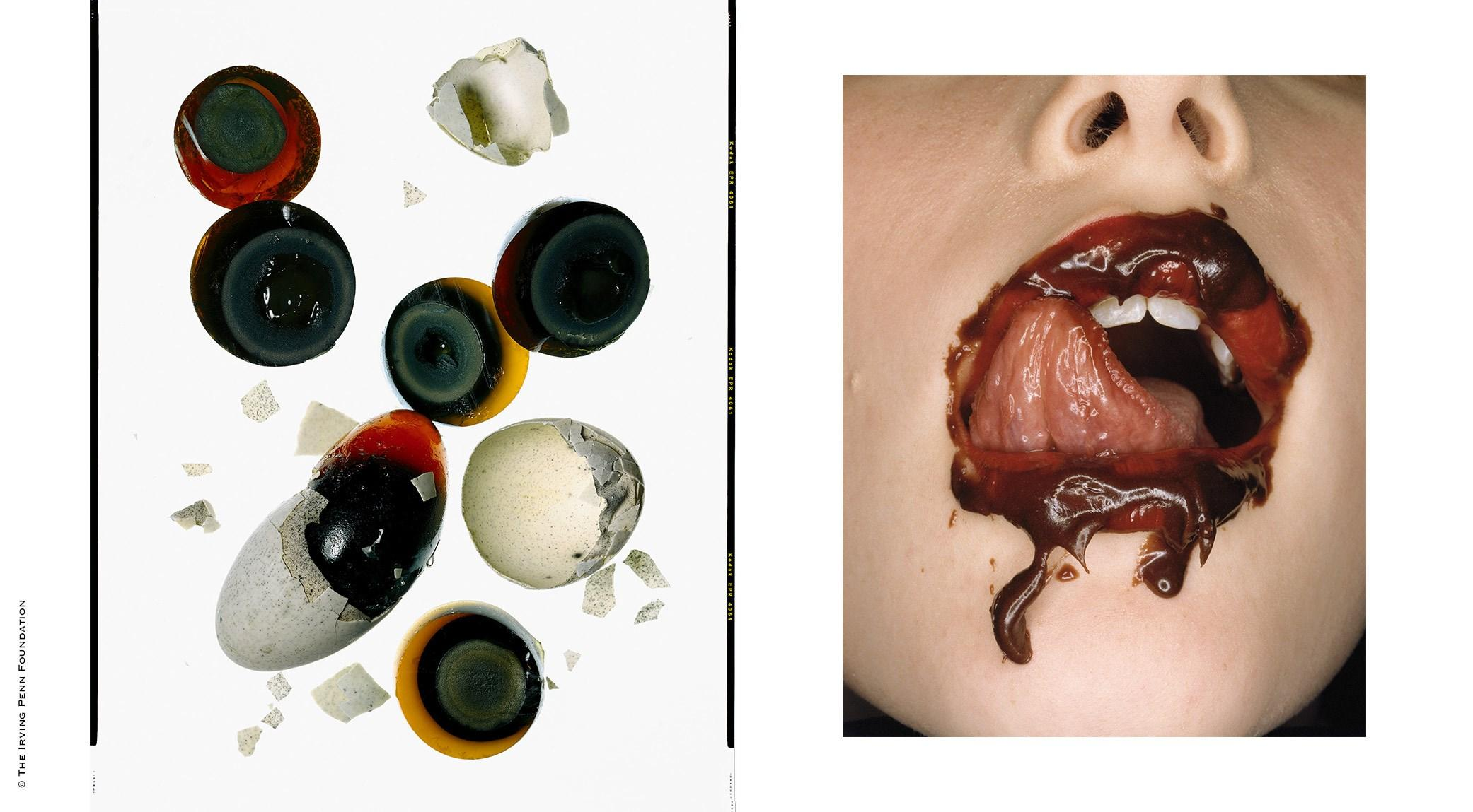 Irving Penn, Thousand-Year-Old Egg | Irving Penn, Chocolate Mouth