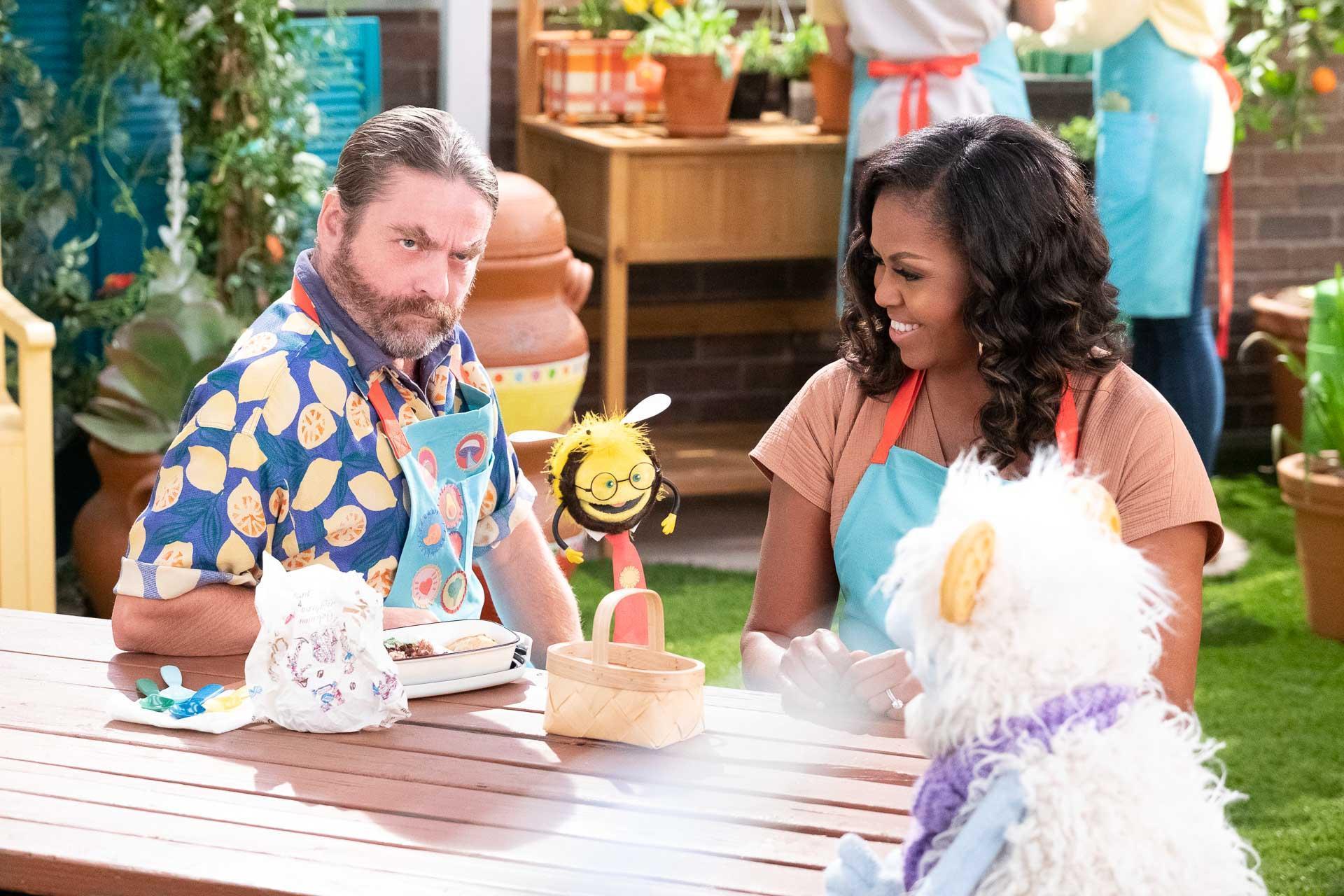 Waffles + Mochi con Michelle Obama | Zach Galifianakis