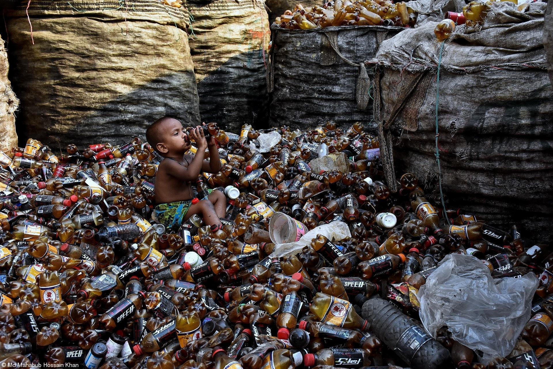 Life - Md Mahabub Hossain Khan - Drinking from Garbage