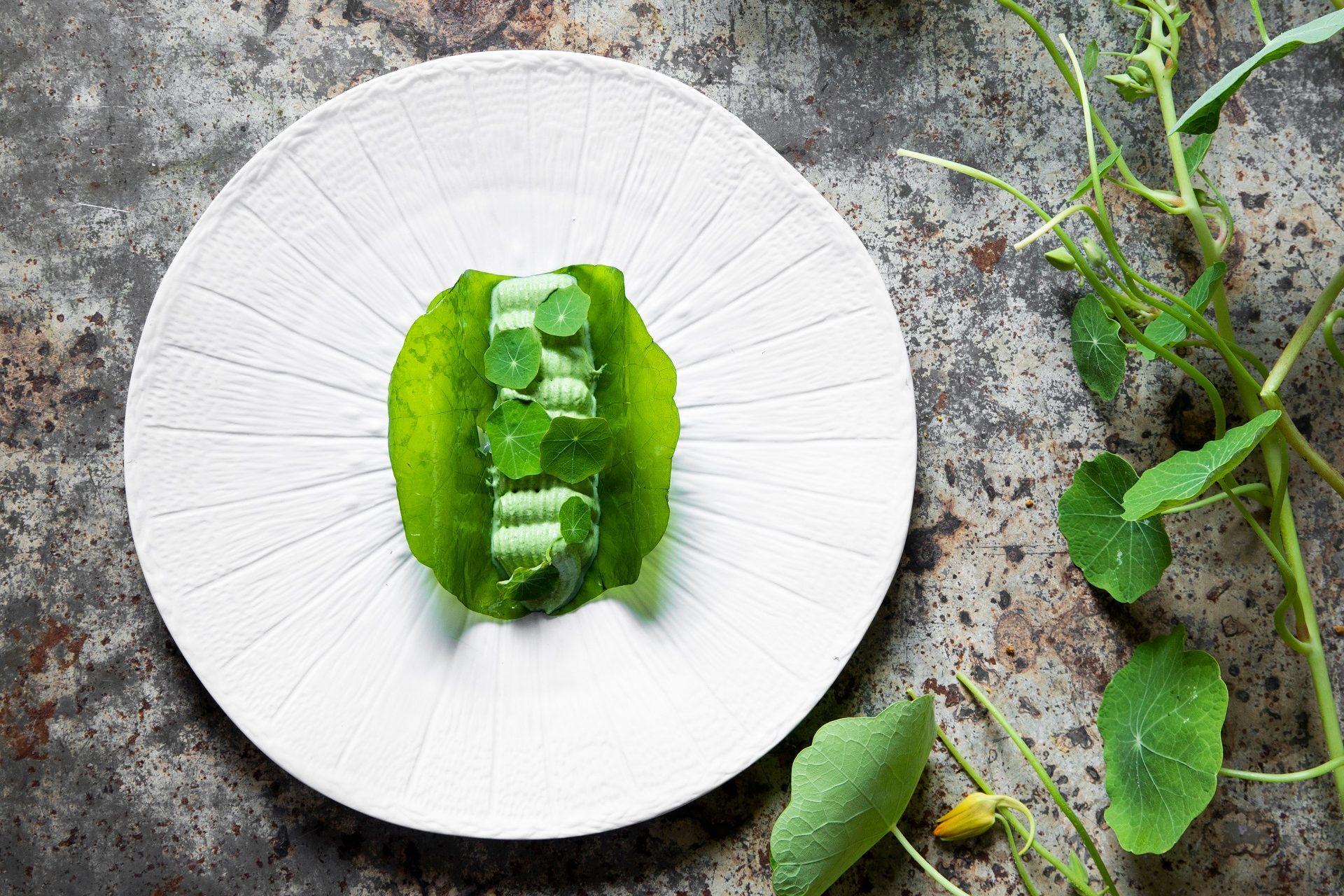 Nasturtium tacos - Mirazur New Moon menu