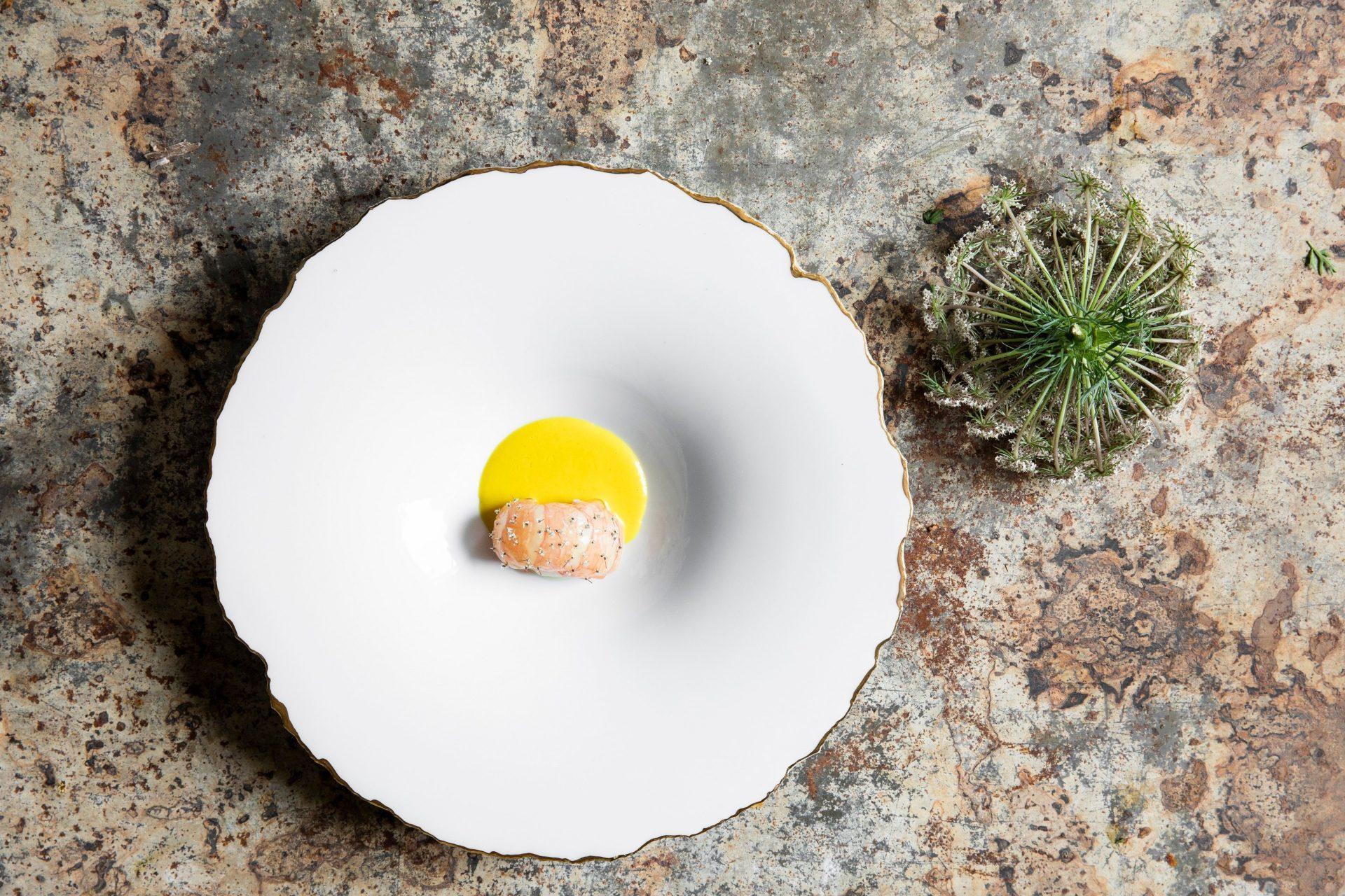 Osmanthus flower - Mirazur New Moon menu